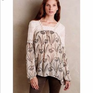 Anthropologie Floreat Cantana Lace Peasant Top 2